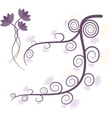 Purple tree vector image