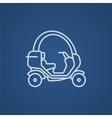 Rickshaw line icon vector image