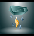 Thunderstorm concept vector image vector image