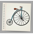 Doodle old bicycle vector image vector image