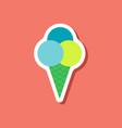 paper sticker ice cream balls vector image