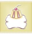 Cute cupcake border vector image