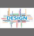 word cloud design vector image