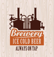 Banner with picture of the brewery vector image