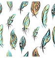 Ethnic seamless pattern with FeathersSeamless vector image