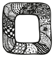 Hand drawn doodling frame for text or photo vector image