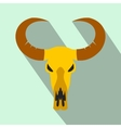 Buffalo skull flat icon vector image