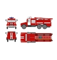 Fire engine car vector image