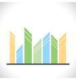 creative real estate icon design vector image
