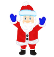Festive santa on white background vector image