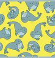 Fur seal seamless pattern vector image