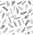 Monochrome leaves pattern vector image