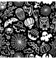 vintage Halloween seamless vector image