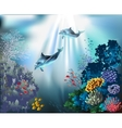 Seascape - underwater world vector image