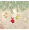 Christmas background with retro balls  EPS8 vector image
