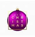 Christmas Greetings Sticker or Banner vector image