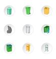 Scum icons set cartoon style vector image