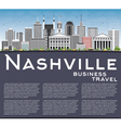 Nashville Skyline with Gray Buildings vector image