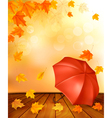 Retro autumn background with colorful leaves and vector image vector image