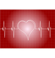heart diagram with line heart vector image