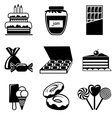 set confection icons vector image vector image