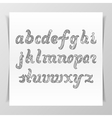 Hand-drawn vintage Lettering Alphabet vector image