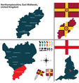 Northamptonshire East Midlands vector image