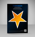 Business brochure Editable A4 poster for design vector image
