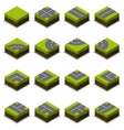 Assembled Isometric Road Intersection vector image