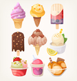 Ice cream set vector image vector image