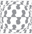 Sphere with man pattern background isolated vector image vector image