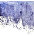 Blue grunge abstract watercolor wet spot vector image