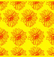 bright sunny floral seamless pattern with vector image