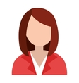 business avatar woman and suit graphic vector image