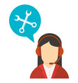 character working talk call center vector image