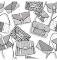 Fashion bags seamless pattern for girls vector image