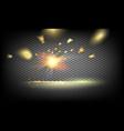 golden confetti falls vector image
