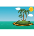 Island with palm trees vector image