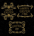 Set hand lettering Easter vector image