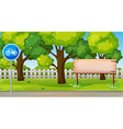 Park scene with bike lane vector image vector image