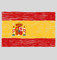 hand drawn spanish flag vector image