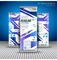 set of advertisement roll up business flyers or vector image vector image