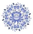 folk art floral pattern russian design inspired vector image vector image
