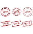 Vote stamps vector image