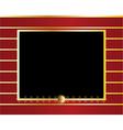 Red gold black frame background vector image