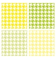 Tile houndstooth pattern green wallpaper set vector image
