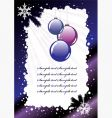 holiday postcard vector image vector image