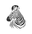 Head of zebra from profile vector image