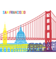 San Francisco skyline pop vector image vector image