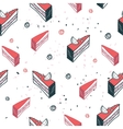 Delicious food seamless background pattern cake vector image